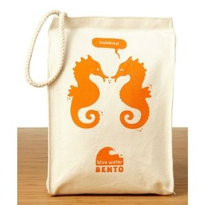 Blue Water Bento Ecolunchbox Seahorse Lunch Bag